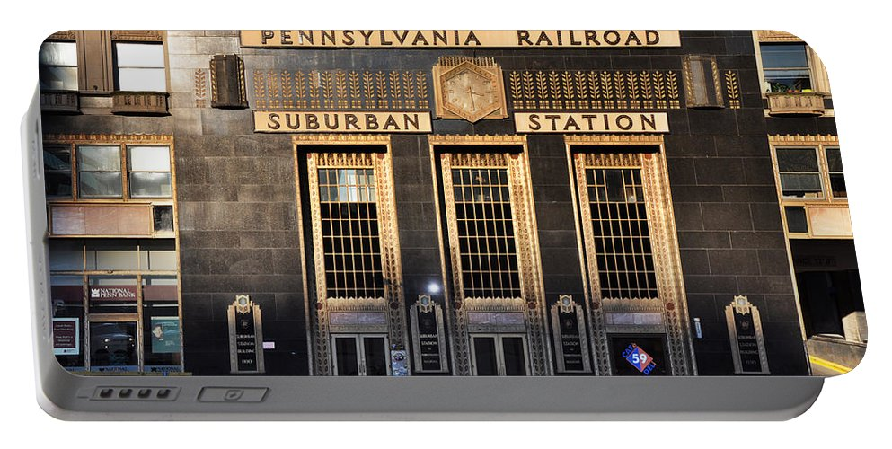 Pennsylvania Railroad Suburban Station Portable Battery Charger featuring the photograph Pennsylvania Railroad Suburban Station by Bill Cannon