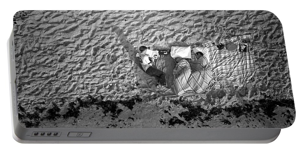 Nasa Portable Battery Charger featuring the photograph People Camped Out For Apollo 11 Launch by Nasa