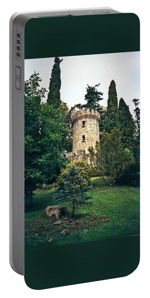 Peppot Portable Battery Charger featuring the photograph Pepperpot Tower At Powerscourt by Douglas Barnett