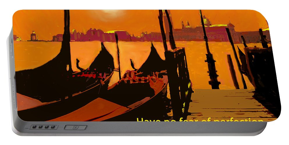 Perfection Portable Battery Charger featuring the digital art Perfection by Ian MacDonald
