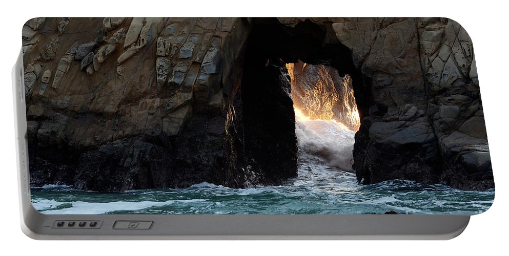 Pfeiffer Rock Portable Battery Charger featuring the photograph Pfeiffer Rock Big Sur by Bob Christopher