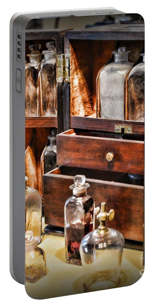 Paul Ward Portable Battery Charger featuring the photograph Pharmacy - Medicine Cabinet by Paul Ward