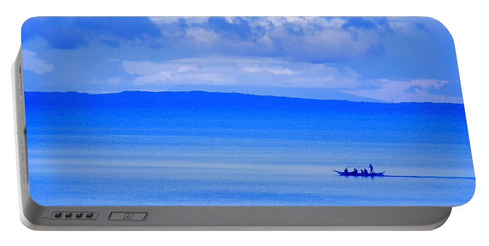 Blue Portable Battery Charger featuring the photograph Philippine Sea Sunrise by Valerie Rosen