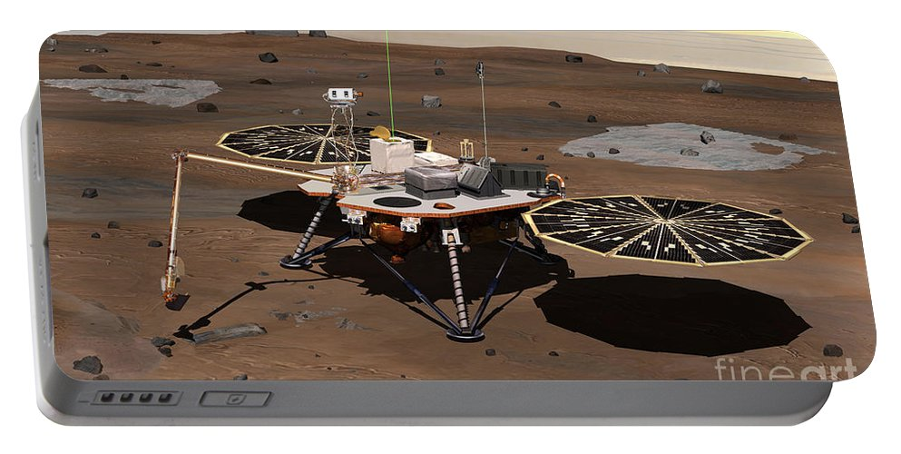 Phoenix Mars Lander Portable Battery Charger featuring the photograph Phoenix Lander On Mars by Nasa