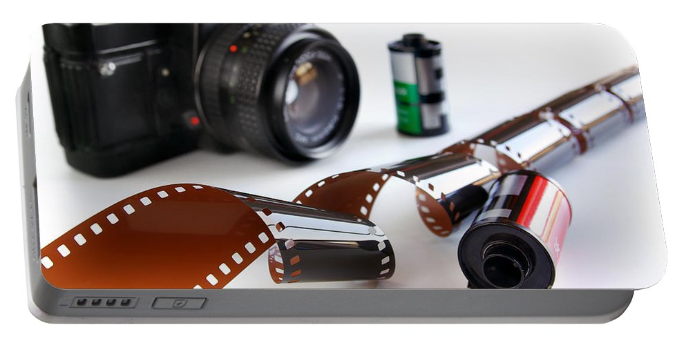 35mm Portable Battery Charger featuring the photograph Photography Gear by Carlos Caetano