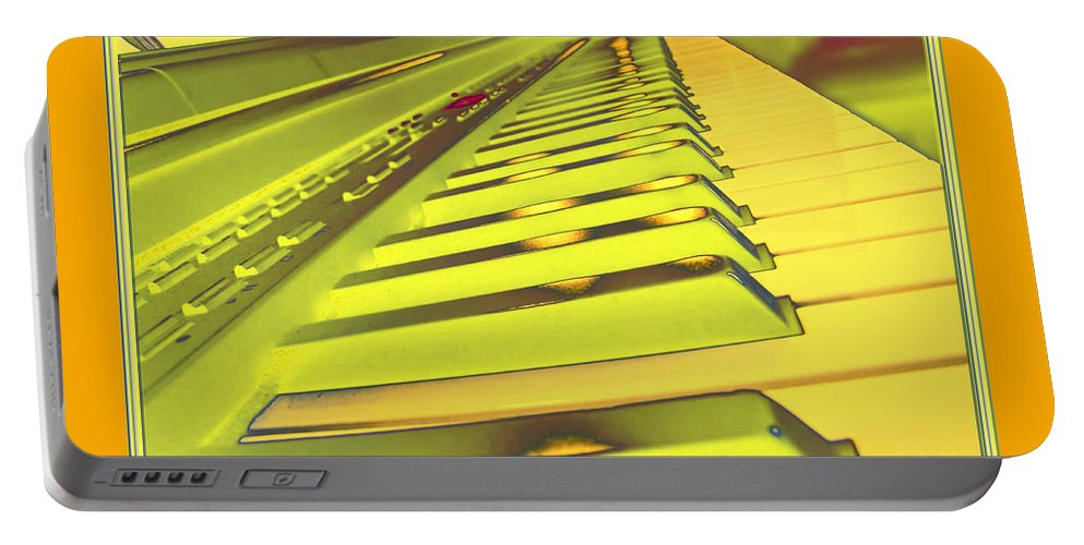Still Life Portable Battery Charger featuring the photograph Piano Impressions by Debbie Portwood