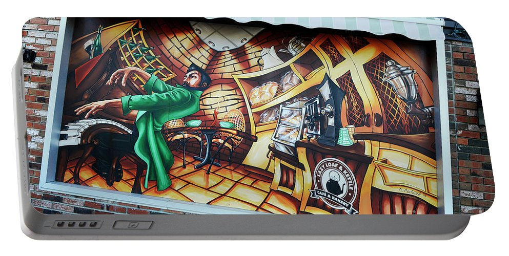 Graffiti Portable Battery Charger featuring the photograph Piano Man 3 by Bob Christopher