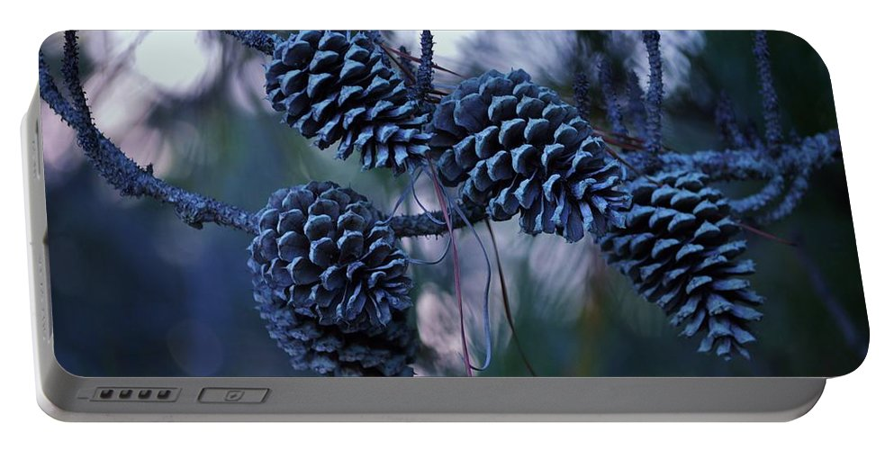 Tree Portable Battery Charger featuring the photograph Pine Cones by William Bartholomew