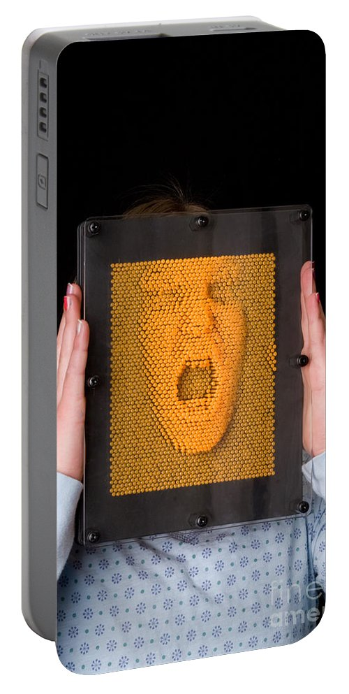 Pin Art Portable Battery Charger featuring the photograph Pinhead by Ted Kinsman