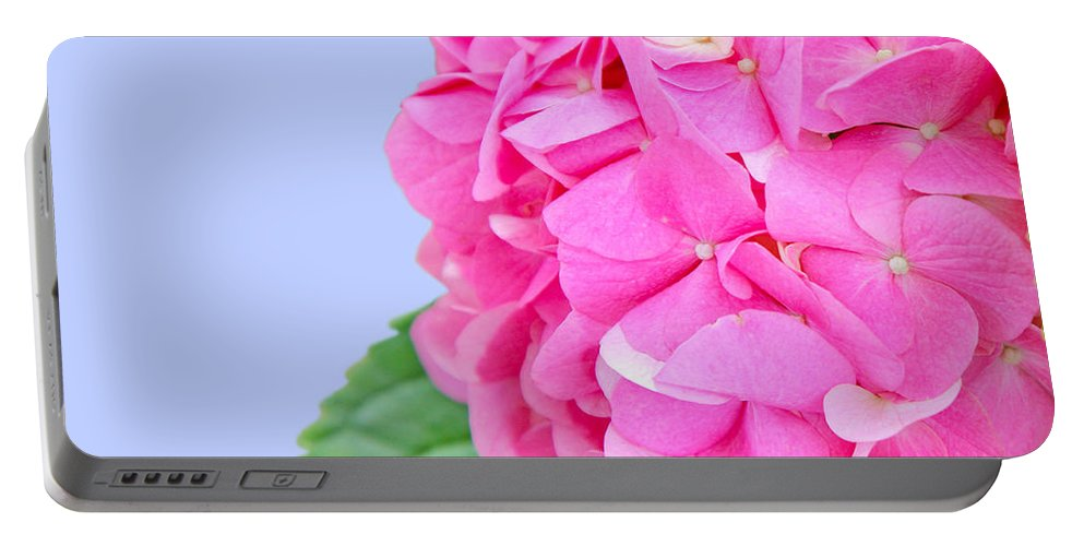 Hydrangea Portable Battery Charger featuring the photograph Pink Hydrangea by Susan Wall