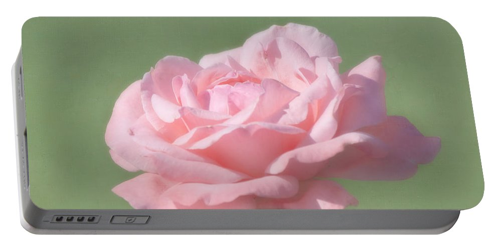 Flower Portable Battery Charger featuring the photograph Pink Rose by Kim Hojnacki