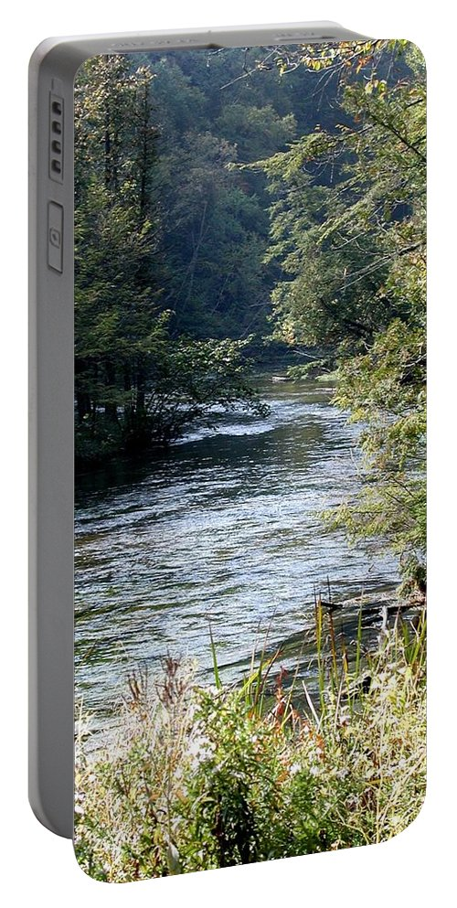 Campground Portable Battery Charger featuring the photograph Platte River by Joseph Yarbrough