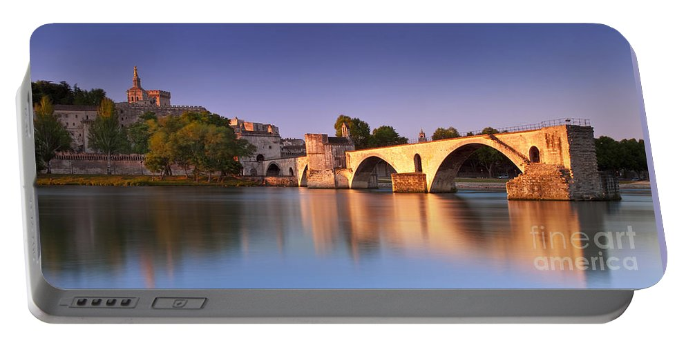 Pont St Benezet Portable Battery Charger featuring the photograph Pont St. Benezet by Brian Jannsen
