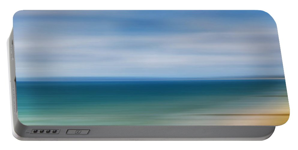 Poole Bay Portable Battery Charger featuring the photograph Poole Bay Panorama Abstract by Chris Day