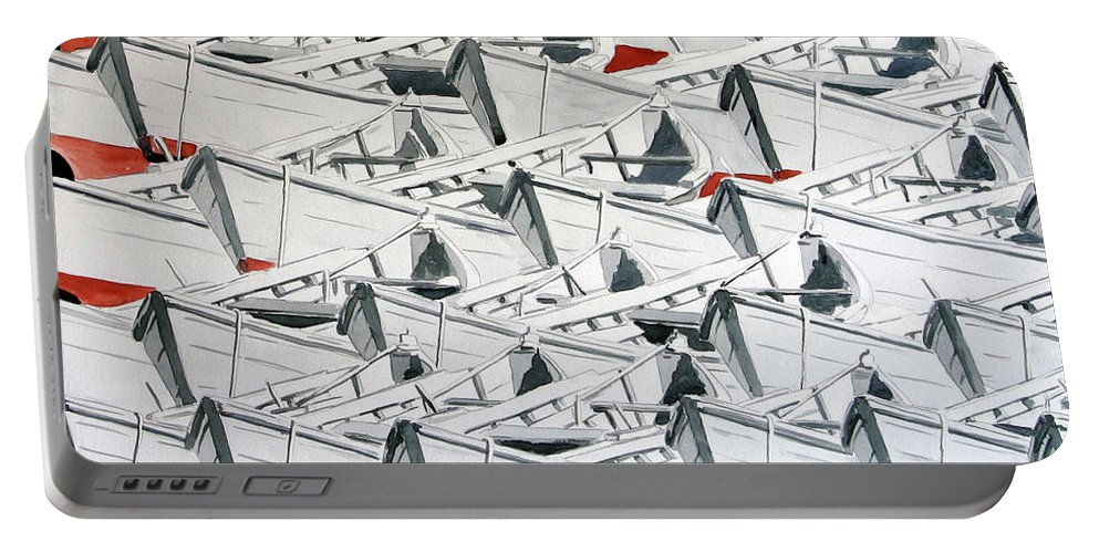 Boats Portable Battery Charger featuring the painting Poppe by Giovanni Marco Sassu