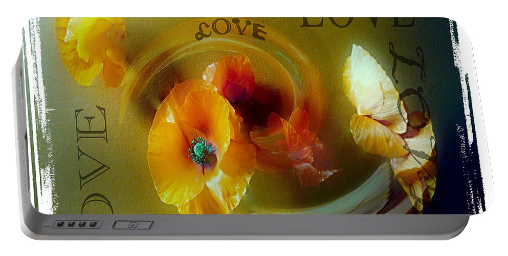 Poppy Portable Battery Charger featuring the photograph Poppy Love by P Donovan