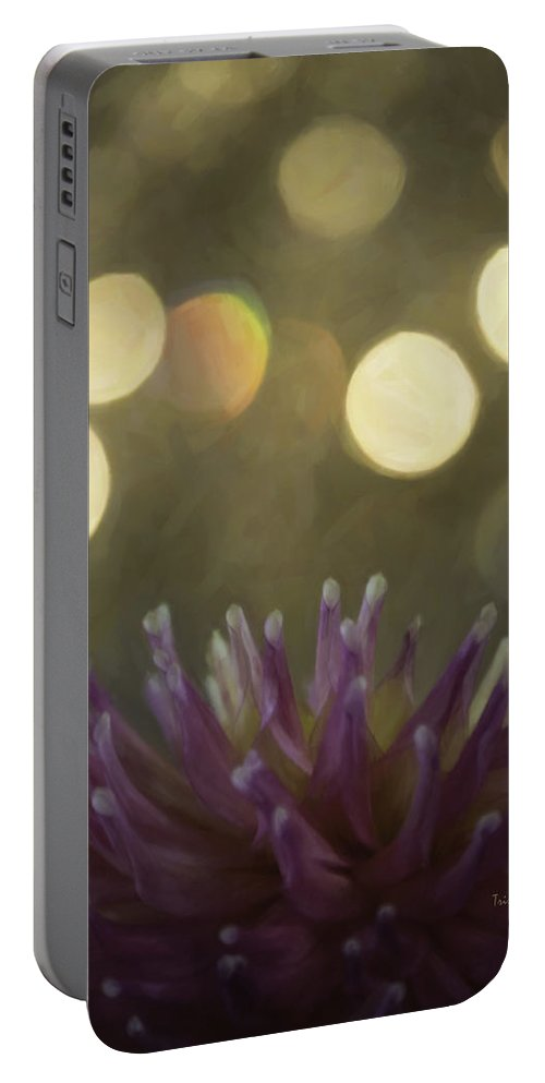 Flower Portable Battery Charger featuring the photograph Porcupine by Trish Tritz