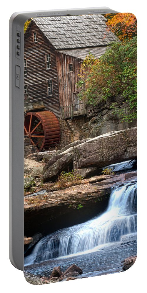 Portrait Glade Creek Portable Battery Charger featuring the photograph Portrait Of Glade Creek Mill by Randall Branham