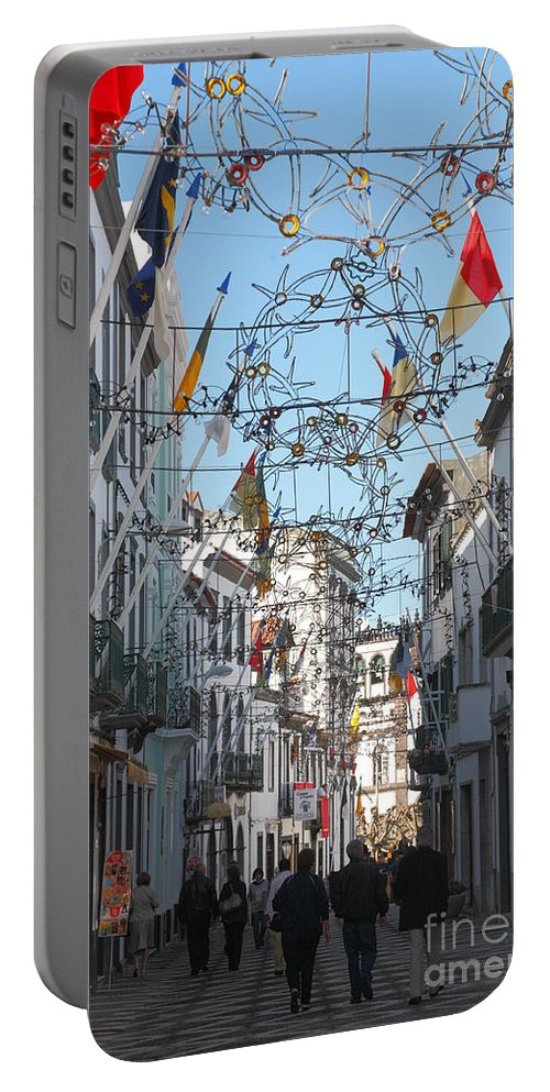 Street Portable Battery Charger featuring the photograph Portuguese Street by Gaspar Avila