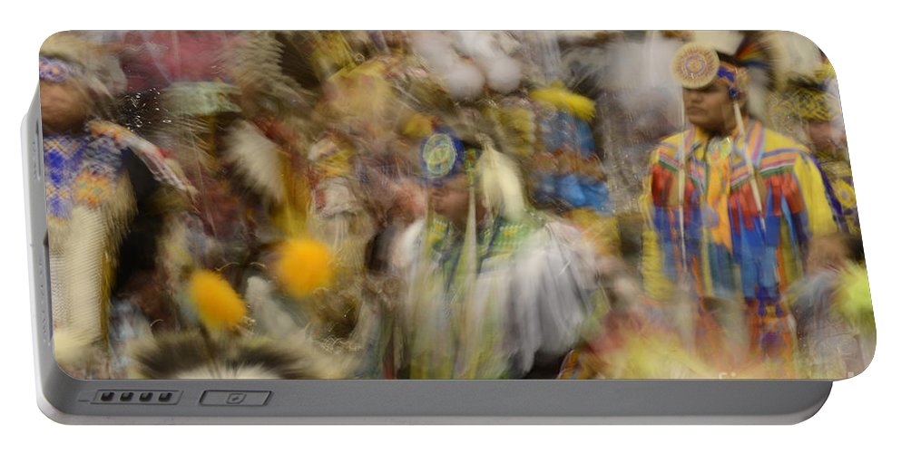 Pow Wow Portable Battery Charger featuring the photograph Pow Wow Color by Bob Christopher