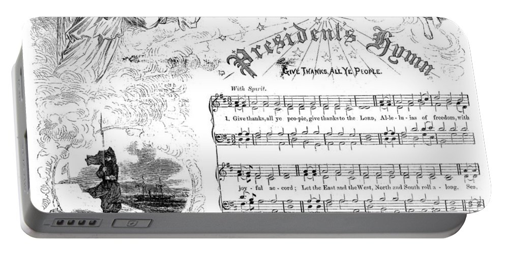 1863 Portable Battery Charger featuring the photograph Presidents Hymn, 1863 by Granger