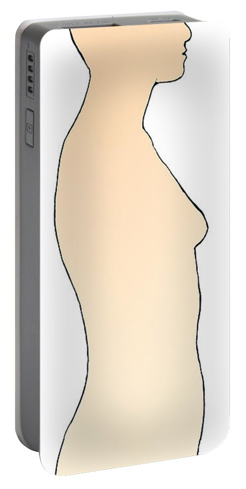 Illustration Portable Battery Charger featuring the photograph Profile Of Adult Female by Science Source