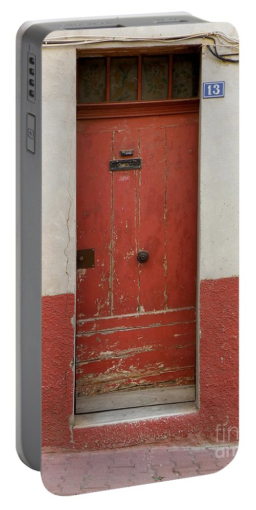 Door Portable Battery Charger featuring the photograph Provence Door 13 by Lainie Wrightson