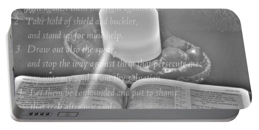 Portable Battery Charger featuring the photograph Psalm 35 by Michael Frank Jr