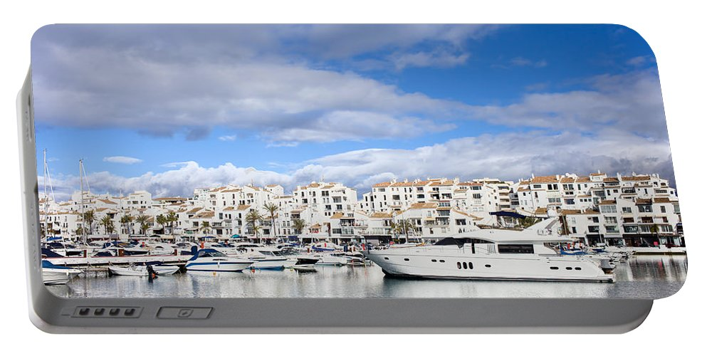 Marbella Portable Battery Charger featuring the photograph Puerto Banus In Spain by Artur Bogacki