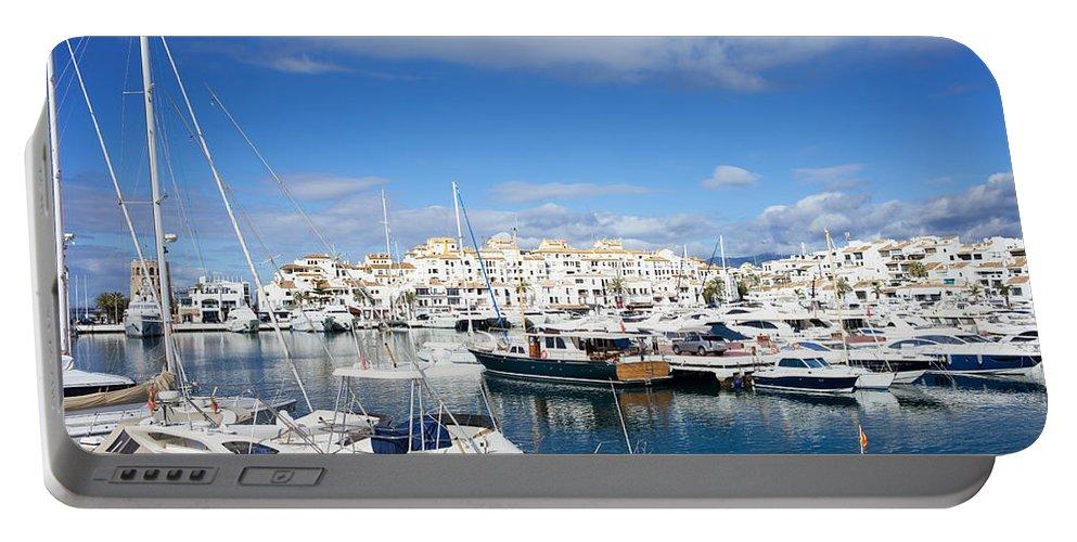 Marbella Portable Battery Charger featuring the photograph Puerto Banus Marina by Artur Bogacki