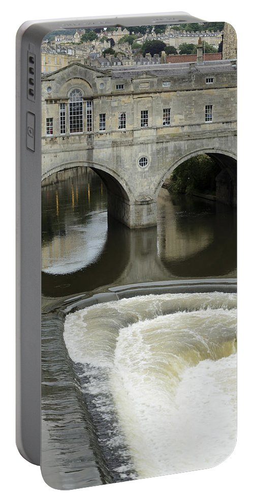 Bath Portable Battery Charger featuring the photograph Pulteney Bridge by Nick Field