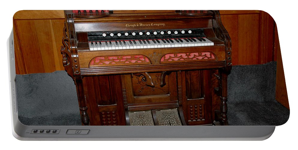 Usa Portable Battery Charger featuring the photograph Pump Organ by LeeAnn McLaneGoetz McLaneGoetzStudioLLCcom