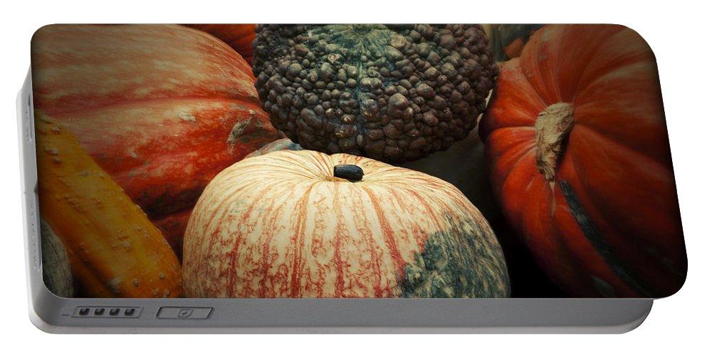 Pumpkin Mix Portable Battery Charger featuring the photograph Pumpkin Mix by Douglas Barnard