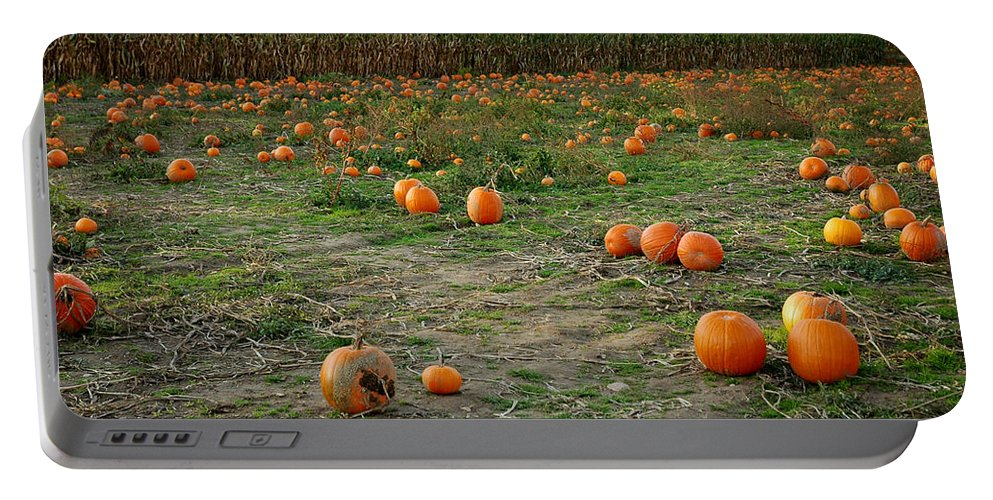 Food And Beverage Portable Battery Charger featuring the photograph Pumpkin Patch by LeeAnn McLaneGoetz McLaneGoetzStudioLLCcom