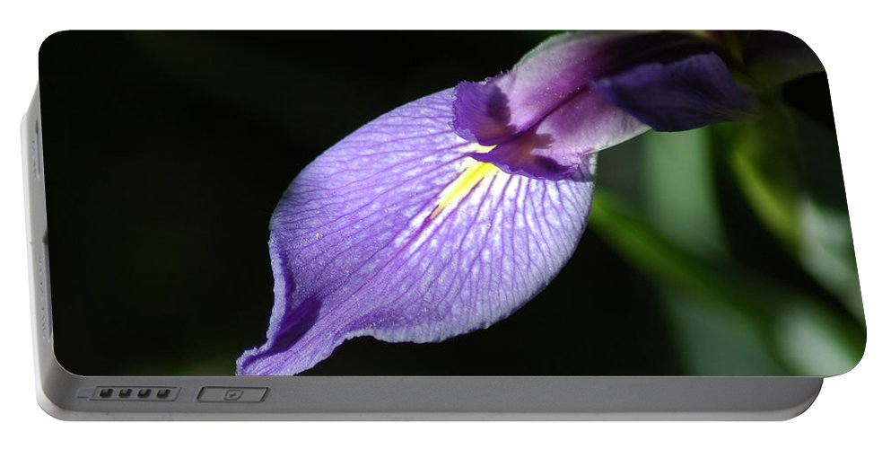 Magnolia Portable Battery Charger featuring the photograph Japanese Iris Petal by David Weeks