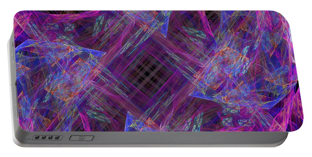 Purple Portable Battery Charger featuring the digital art Purples II by Ricky Barnard