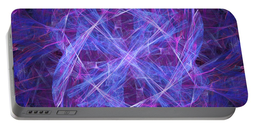 Purple Portable Battery Charger featuring the digital art Purples by Ricky Barnard