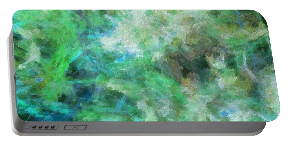 Sculptured Artwork Portable Battery Charger featuring the digital art Quadra-24-g by RochVanh