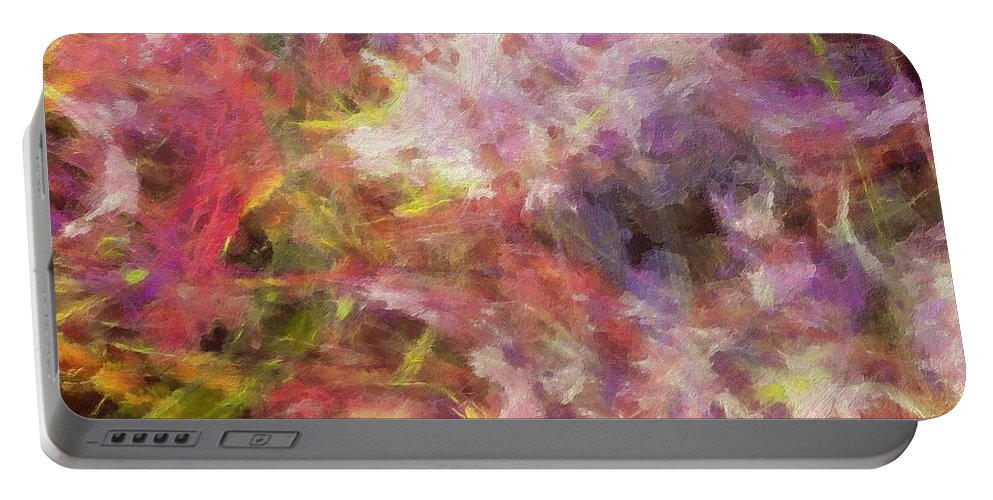 Sculptured Artwork Portable Battery Charger featuring the digital art Quadra-24-y by RochVanh