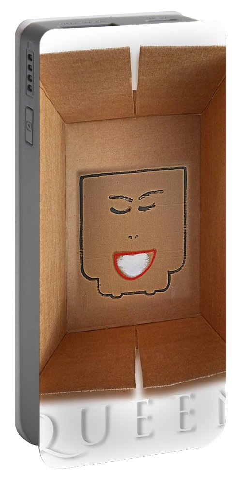 Queen Portable Battery Charger featuring the painting Queen by Charles Stuart