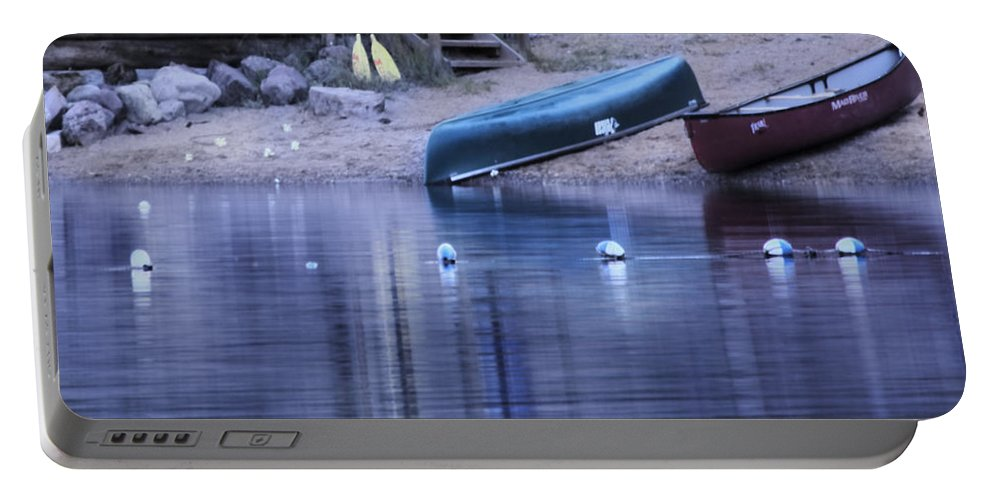Still Portable Battery Charger featuring the photograph Quiet Canoes by Janie Johnson