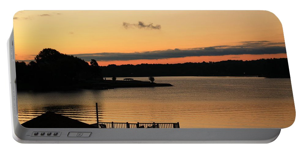Sunrise Portable Battery Charger featuring the photograph Quiet Mornings by Catie Canetti