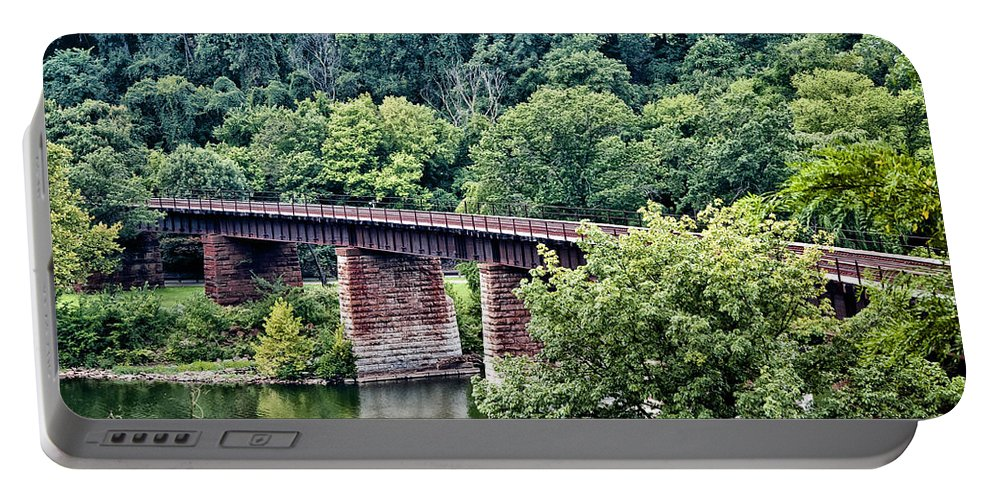 Railroad Bridge At East Falls Philadelphia Portable Battery Charger featuring the photograph Railroad Bridge At East Falls Philadelphia by Bill Cannon
