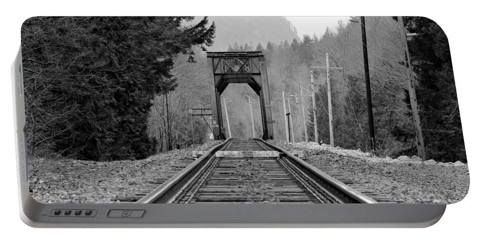 Old Portable Battery Charger featuring the photograph Railway Track by Paul Fell