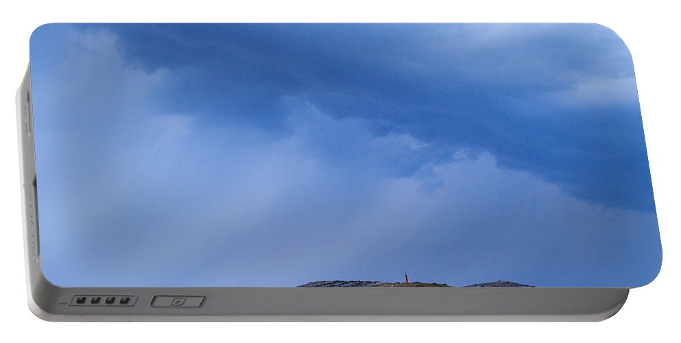 Lehtokukka Portable Battery Charger featuring the photograph Rain Over The Sea by Jouko Lehto