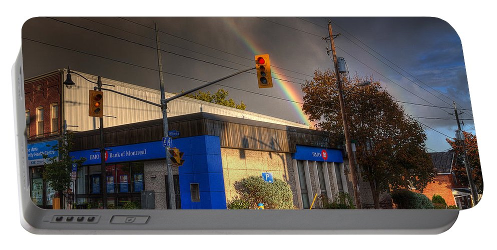 Acrylic Prints Portable Battery Charger featuring the photograph Rainbow On Bank by John Herzog