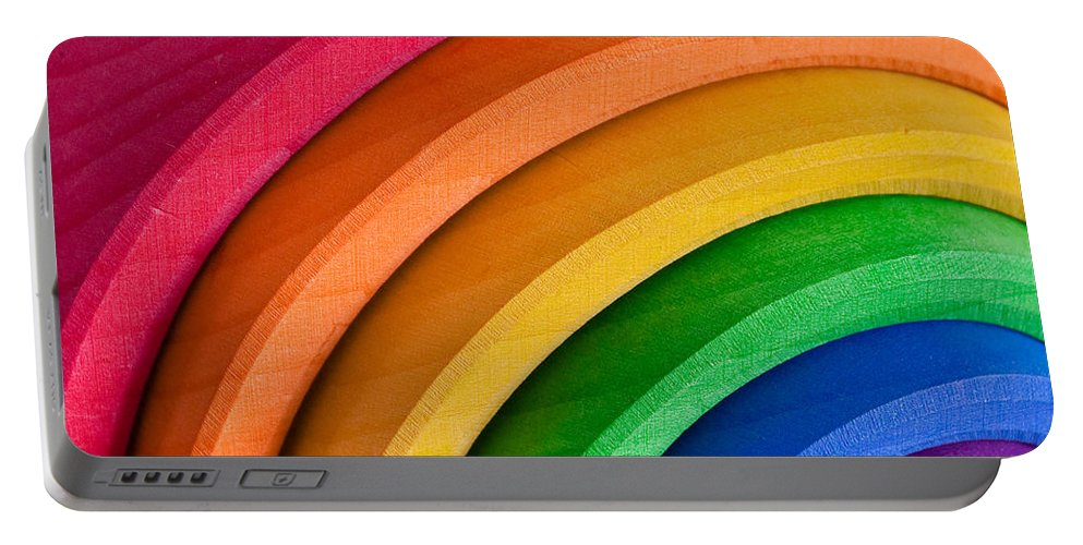Acceptance Portable Battery Charger featuring the photograph Rainbow by Tom Gowanlock