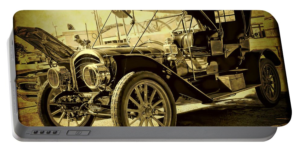 Classic Car Portable Battery Charger featuring the photograph Rambler by Adam Vance