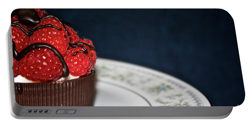 Food Portable Battery Charger featuring the photograph Raspberry Mascarpone by Susan Herber
