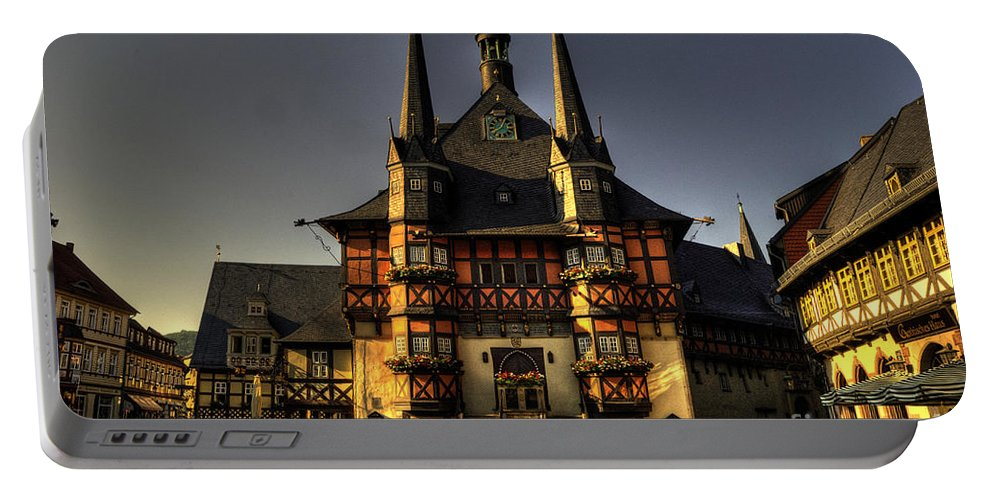 Wernigerode Portable Battery Charger featuring the photograph Rathaus At Wernigerode by Rob Hawkins